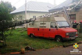 У Тернополі дерева падали на автомобілі та житлові будинки (ФОТО)