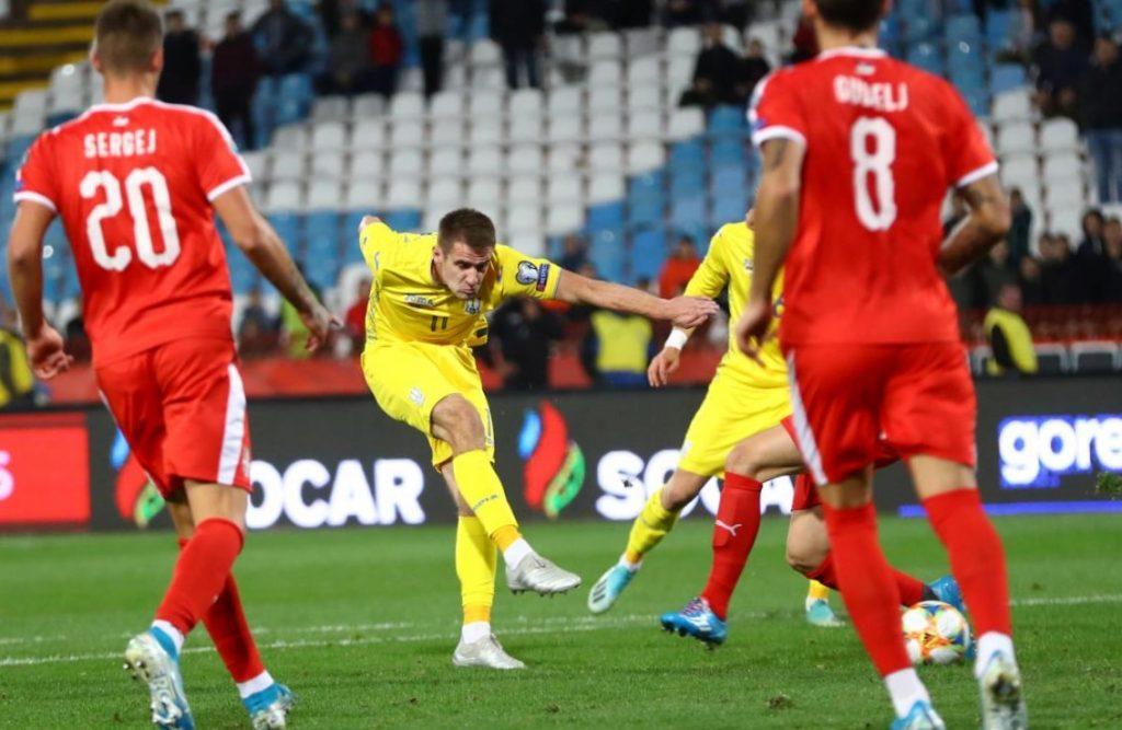 Сербія - Україна, гол Беседіна