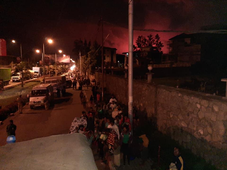 Конго, виверження вулкану, евакуація людей