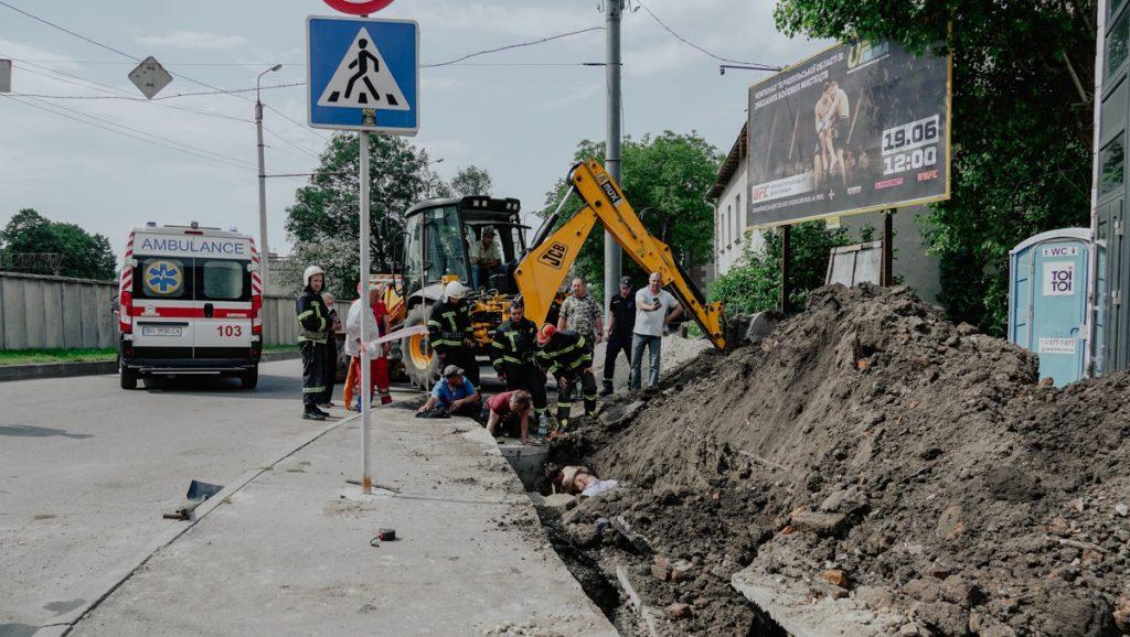 обвал грунту у Тернополі