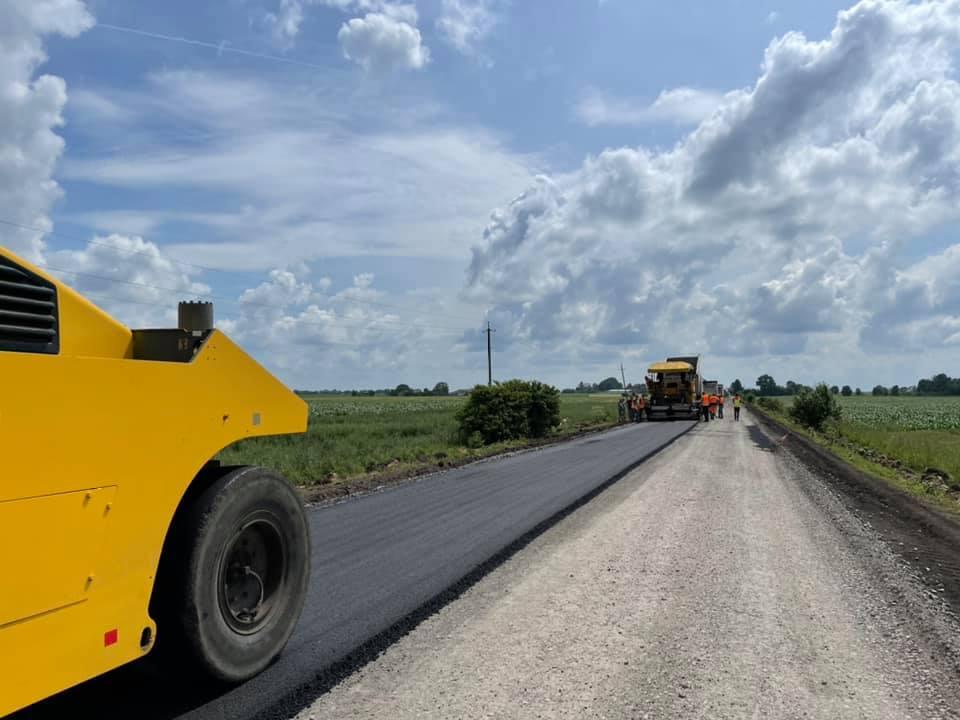 Мар'янівка, ремонт дороги